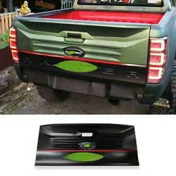 Black Rear Tailgate Trunk Lid Cover Guard Plate 1pcs Fit For Ford Ranger 2015-21