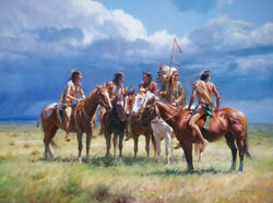 Martin Grelle Waiting On The Wolves Canvas Grande Edition
