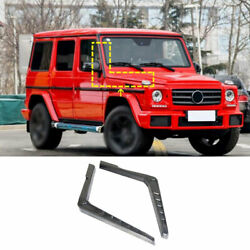 For Benz G-class G55 G63 2004-2018 Real Carbon Fiber Front Engine Hood Side Vent