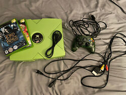 Rare Limited Edition Mountain Dew Original Xbox Great Condition Tested W/ Games