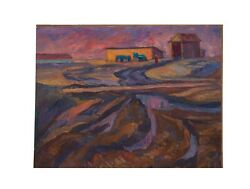 Oil Original Painting Ussr Art Ilyushin A.a Илюшин А.А After The Harvest