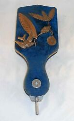 Old Unusual Fan-shape Victorian Photo Album Metal Decorated Velour Cover And Latch