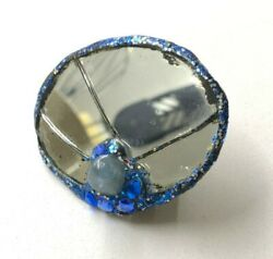 Early Vintage Andrew Logan Mirror Cocktail Ring 1983 Signed By The Artistandnbsp