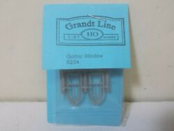 Grandt Line 5254 Gothic Windows, Pointed Top Four Pane Pack Of 8 Ho Scale