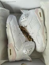 Dh9696-100 Wmmns Jordan 6 Retro And039gold Hoopsand039 Sizes 7.5w 9.5w. Brand New Ds.