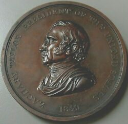 1849 Bronze President Zachary Taylor Indian Peace And Friendship Original Medal