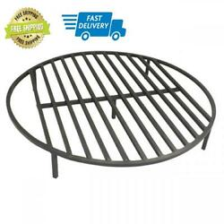 New Titan Great Outdoors Fire Pit Grate 285 Round Heavy Duty Cooking Campfire