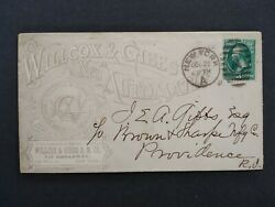 New York Ny City 1881 Wilcox And Gibbs Automatic Sewing Machine Advertising Cover