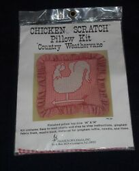 NEW COUNTRY WEATHERVANE CHICKEN SCRATCH PILLOW KIT