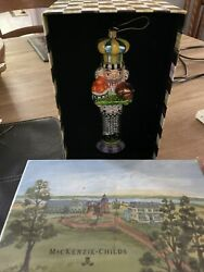 Mackenzie Childs Piccadilly Che Nutcracker Christmas Ornament Hand Painted