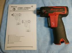 """Snap-on Cts661 ¼"""" 7.2v Screwdriver Impact Driver Drill Tool Only Cordless Drill"""