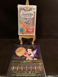 Walt Disneyand039s Snow White And The Seven Dwarfs Masterpiece Collection Vhs New