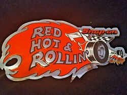 Vintage Snap On Red Hotandrollin Ssx-742a Original Bumper Stickers