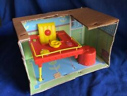 Topper Toys Suzy Cute Doll Feeding Table Chair Stool Attached To Orig Box Insert