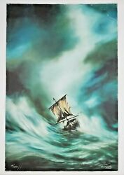 Dan Cumpata Limited Giclee Print Defeated By Nature Signed 24x36 15/250