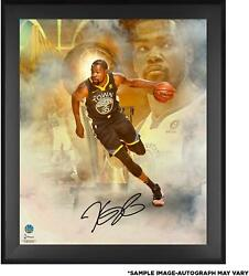 Kevin Durant Gsw Framed Signed 20x24 2018 Finals Champs In Focus Photo - Panini