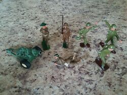 Vintage Military Toy Soldiers Army Men Lead/cast Iron/metal Lot Of 7 Pcs England