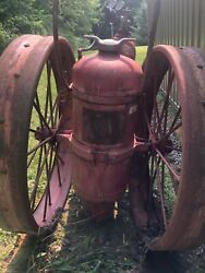 Antique Ansul Fire Extinguisher Large Wheels With Hose