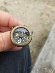 Rare Antique Vintage Marble Arms And Mfg Co Lapel Clip Pin On Compass Works Well