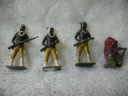Vintage Leads Lot 4 Native American Indians Britains