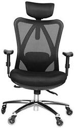 Ergonomic Adjustable Office Chair With Lumbar Support And Rollerblade Wheels