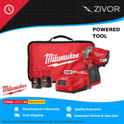 New Milwaukee M12 Fuel 3/8in Stubby Impact Wrench Kit 12v 1y Warranty