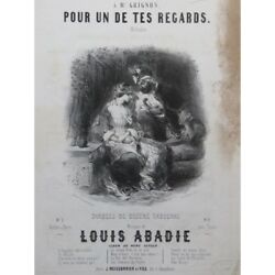 Abadie Louis For One Of Your Looks Nanteuil Singer Piano ca1840 Sheet Music $37.99