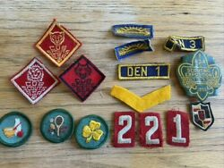 Vtg Cub Scout Boy Scout Badges Patch Insignia 1955 Scouting Exposition Slide