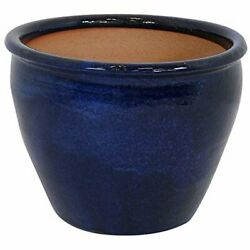 Chalet Ceramic Flower Pot Planter With Drainage Holes - 15-inch - High