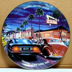 Rare In-out Burger Collectible Plate 2018 Design