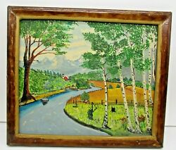 Landscape Painting By John Grass Uncle Johnny Grass