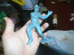 Shot Cowboy Marx Plastic Figure With Hat - 6 Inch - Louis Marx And Co - 1964 Us