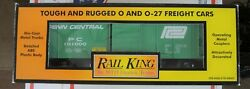 Mth Railking 2001 0 30-7472 Penn Central Rounded Roof Boxcar Used