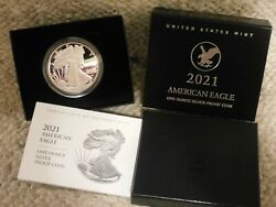 Landing Eagle Type 2 2021-w American Eagle Silver Proof Coin 21ean
