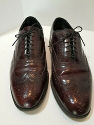 Mens Florsheim Dress Burgundy Wing Tip Shoes Size 10 3e Style 30300 Uhh In Good