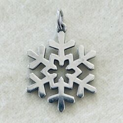 Retired James Avery Sterling Silver Christmas Winter Snowflake Charm Or Pendant