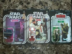 Lot Of 19 Original Star Wars Action Figures On Card W Star Case Plus 2 Playsets