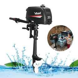 2 Stroke 3.5hp Outboard Motor Boat Engine W/water Cooling Heavy Duty And Tool Bag