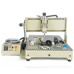 Usb 4axis Cnc 6090 Router 3d Engraver Mill Drill Carving Machine With Handwheel