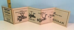 Vintage Shakespeare Sigma Fishing Reels Advertising Fold Out