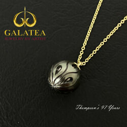 Galatea Hand Carved Tahitian Pearl 14ky Gold Pendant Ga-19yt Calla Lilly