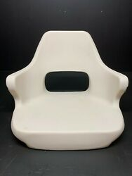 Moeller Marine Off White Roto Molded Hard Bucket Shell Seat Chair St1000-1