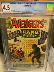 Avengers 8 Cgc 4.5 - First Appearance Of Kang The Conqueror