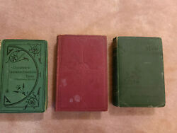 Antique Rare 3 Books From 1800and039s By Louisa M Alkottfenimore Cooper Servantes.