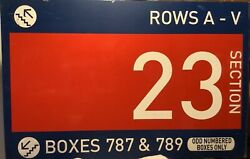 Authentic Shea Stadium Section 23 Concourse Sign. Mlb Hologram. Ny Mets 30x47andrdquo