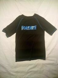 Fortnite Mens Youth Black Polyester Crewneck Short Sleeve Casual T-shirt Size Xl