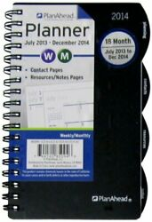 Plan Ahead Small Home/office 18 Months Planner, July 2013 - December 2014, A...