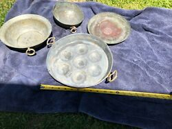 Copper Seder Plate And Bowls Set Of 4 Different Must See Vintage Collectible