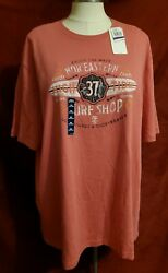 New Izod Mens Saltwater Relaxed Classic Big And Tall T-shirt Tee Xxl Surf Shop 2x