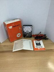 Triplett Model 310 Volt-ohm Milliammeter In Box W Leads Untested As Is-parts